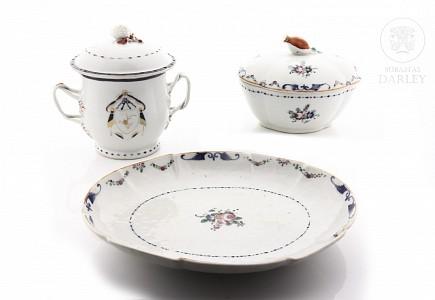 Lote de porcelana china de exportación, dinastía Qing, s.XVIII-XIX