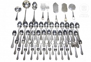 Spanish silver cutlery punched by Pedro Durán.