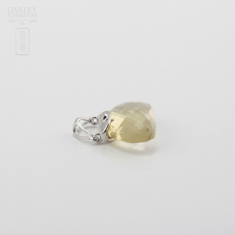 Pendant in 18k White Gold  and Citrine - 2