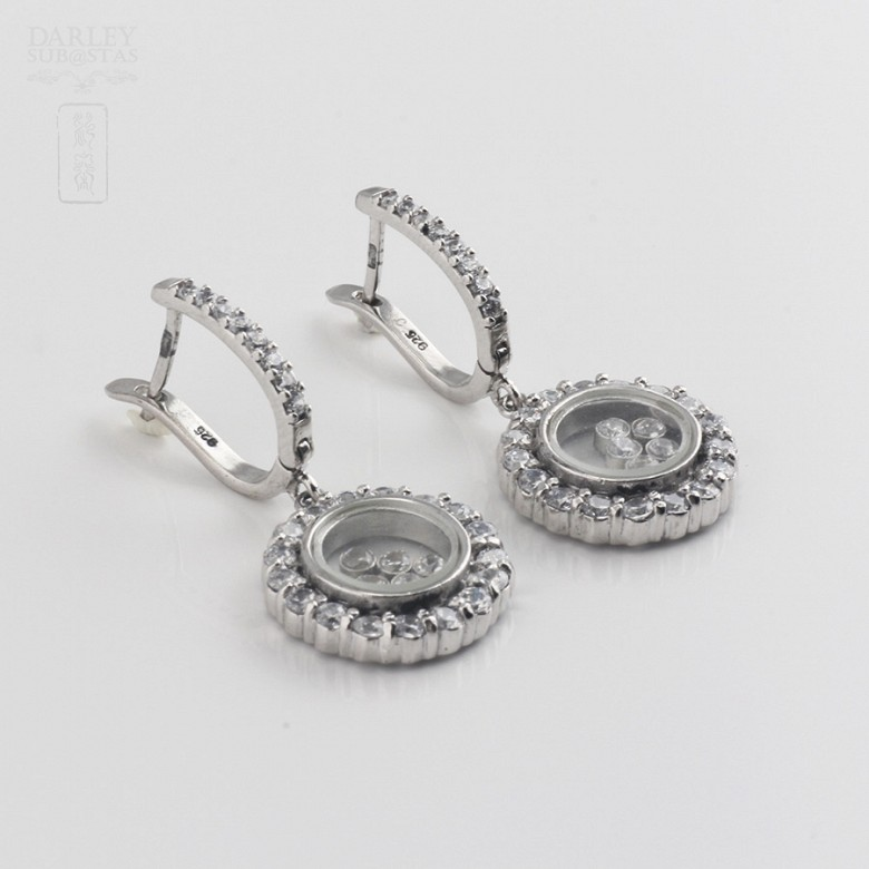 Silver earrings and cubic zirconia law - 1