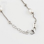 Silver and pearl bracelet - 1