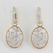 1.01cts precious diamond earrings