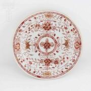 十八世纪1736-1795美描金花卉盘