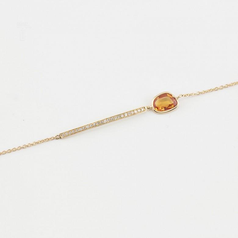 Pulsera en oro amarillo 18k y diamantes - 3
