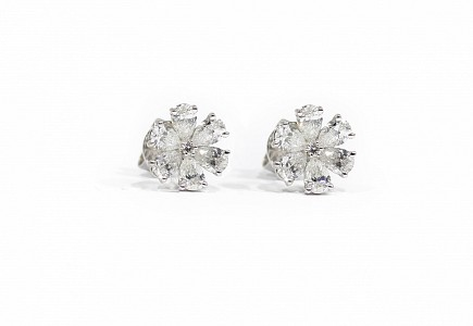 Pendientes oro blanco 18k y diamantes 1,87ct.