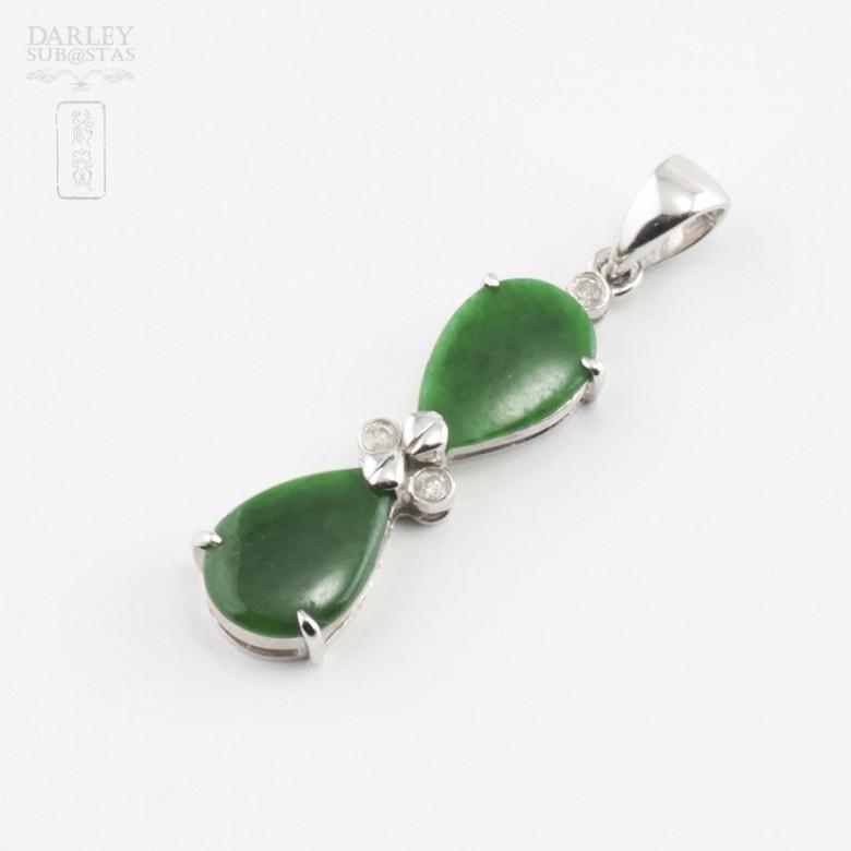 Precioso colgante jadeita y diamantes - 1
