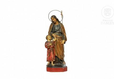 Escultura de San José y el niño, s.XX