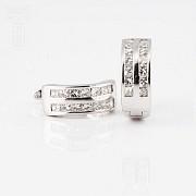 pendientes diamantes 0.57cts en oro blanco de 18K