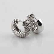 Zircons Earrings in sterling silver, 925m / m - 3