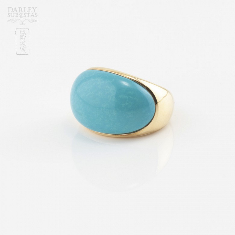 18K黄金绿松石戒指 - 1