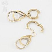 Fantastic diamond earrings 0.70cts - 3