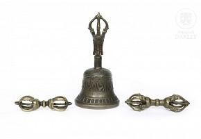 Lot of three Tibetan artifacts, 20th century