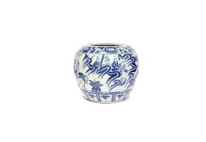 Vasija de cerámica representando dioses taoistas, China, s.XIX