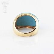 18K黄金绿松石戒指 - 3