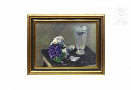 """Miquel Vaquer (1910-1988) """"Violetas"""""""
