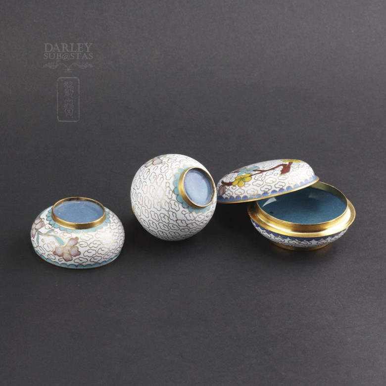 Three nice pieces of cloisonne - 3