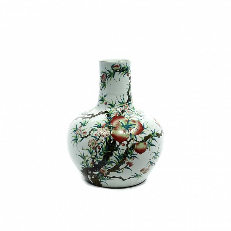 A large porcelain vase