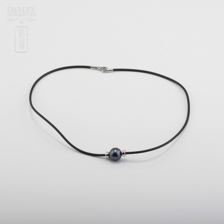 925银配黑珍珠项链