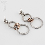 925雙色銀耳环 - 3