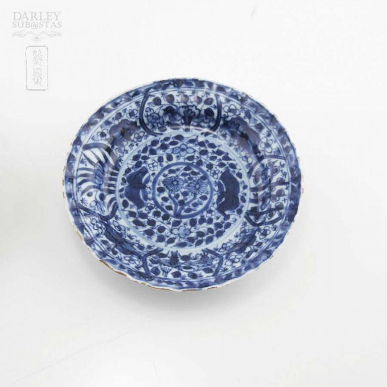 Pareja de platos chinos siglo XVII, kangxi. - 2