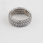 Nice ring in silver rhodium and zirconia - 1