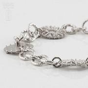 925银镀白金手链 - 2