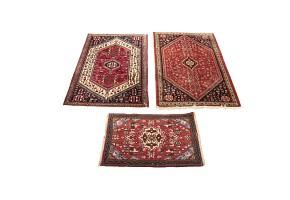 Lot of three oriental carpets, 20th century