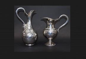 Pair of silver jugs, 20th century