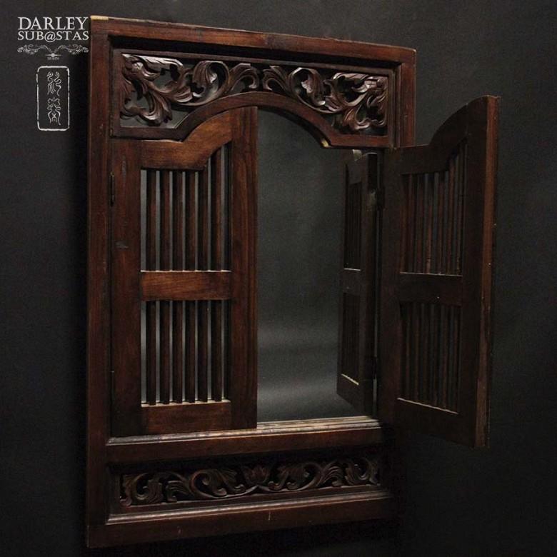 中式嵌镜木框