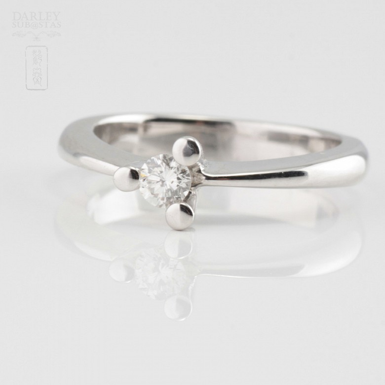 0.16cts Solitaire Diamond 18k White Gold - 1