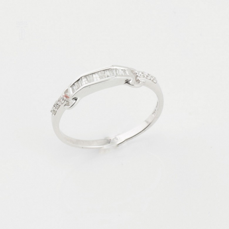 Nice ring white gold and diamonds 0.20cts - 1