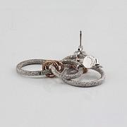 925雙色銀耳环 - 2