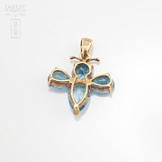 Pendant with 3.80cts Topaz in 18k Yellow Gold - 1
