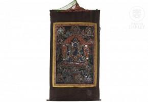 Tibetan silk thangka