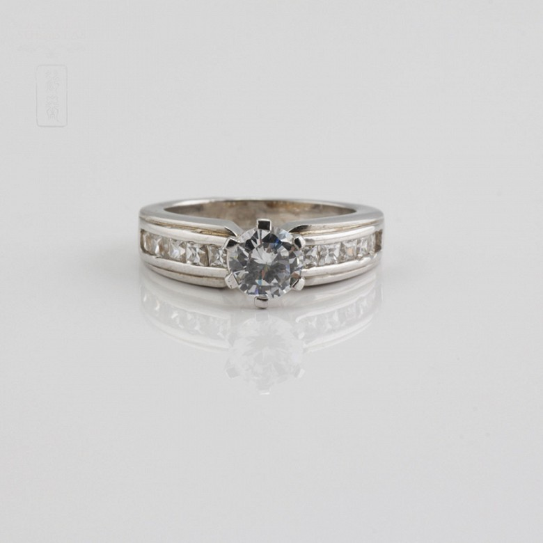 Ring in sterling silver, 925m / m, with zircons - 3