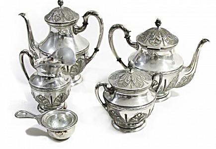 Juego de té de plata, s.XX
