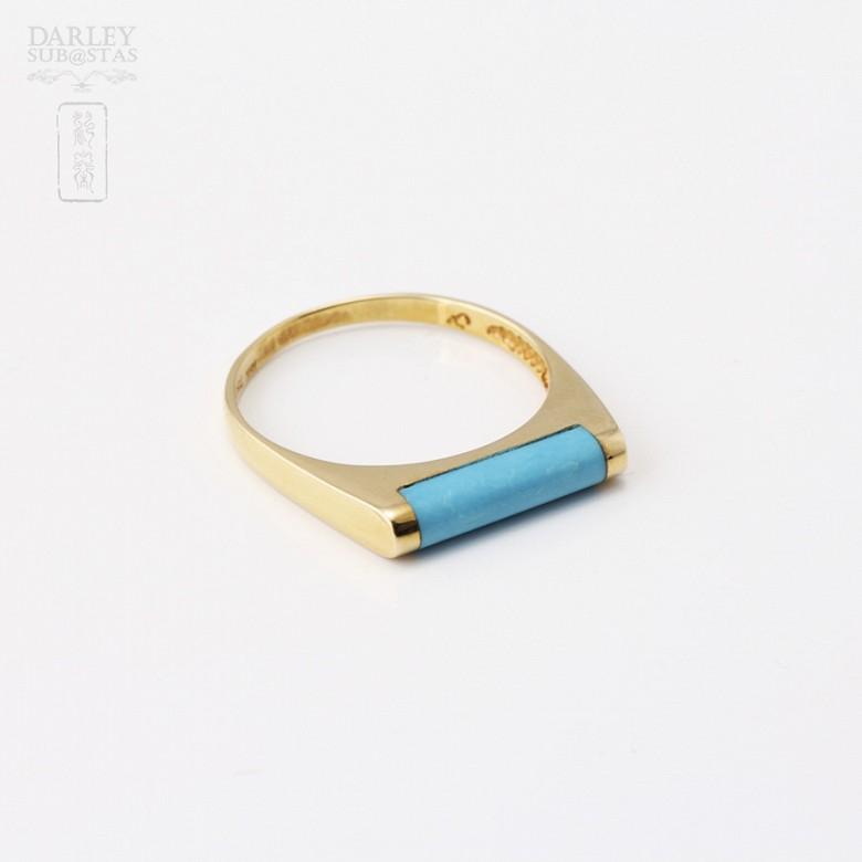 18K黄金戒指镶松石