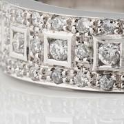 Precioso anillo diamantes 0.46cts y oro blanco 18k - 4