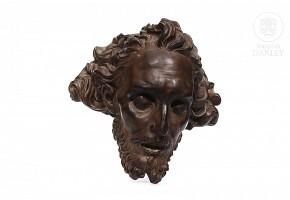 Porcelain head of Christ, Algora, 20th century