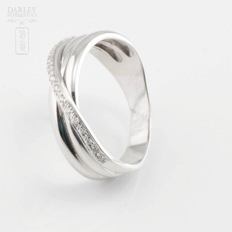 18k白金镶 0.14  克拉鑽石戒指 - 4