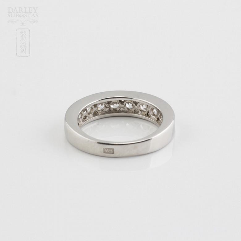 Ring in sterling silver, 925m / m, rhodium zirconia - 3