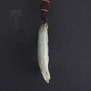 Precioso Jade forma de pez - 3