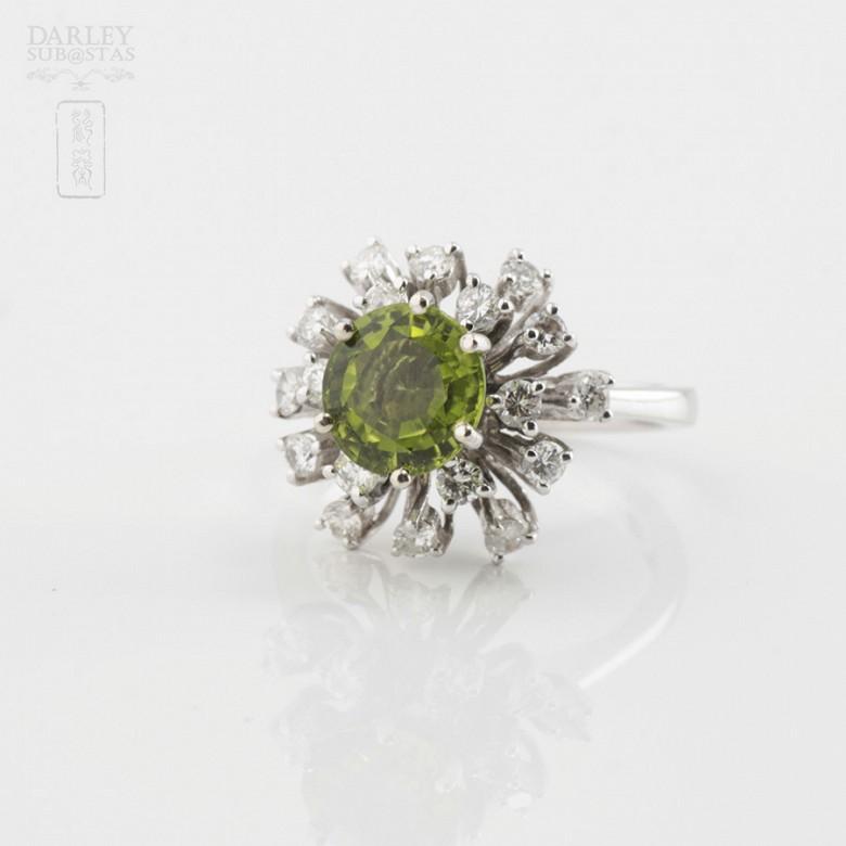 Sortija Peridoto y Diamantes - 1