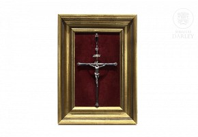 Crucified Christ crucified of Spanish silver punched, mid 20th century
