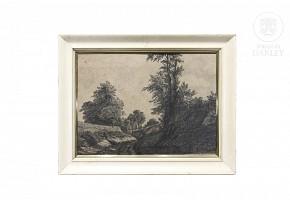 """Juan Espina y Capo (1848-1933) """"Landscape"""""""