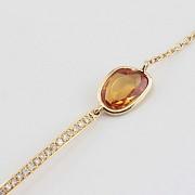 Pulsera en oro amarillo 18k y diamantes
