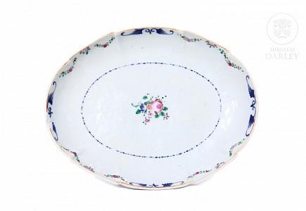 Fuente de porcelana esmaltada, s.XIX
