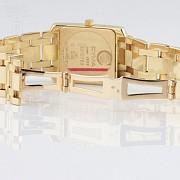 Precious gold and diamond watch Cyma - 4