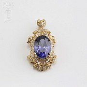 Faller dressing Sapphire blue and gold - 7