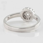 Rose 18k white gold and diamond ring 0.37cts - 4